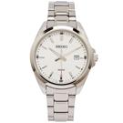 SEIKO 簡約時尚風格不鏽鋼錶帶手錶(SUR273P1)-銀面/42mm