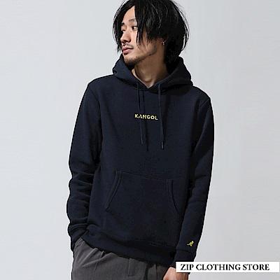 內刷毛刺繡連帽T恤(7色) ZIP日本男裝