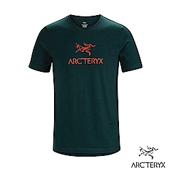 Arcteryx 始祖鳥 24系列 男 ArcWord 有機棉 短袖休閒Tee 迷惑藍