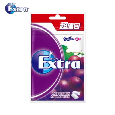 Extra 香甜葡萄潔淨無糖口香糖(44粒超值包)