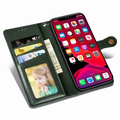 PKG Apple iPhone11Pro (5.8吋) 側翻皮套-磁吸銅扣皮套