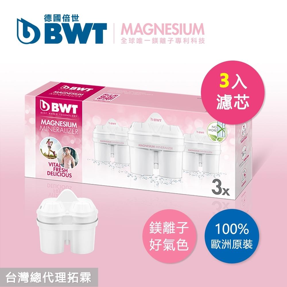 BWT德國倍世 Mg2+Zn鋅鎂離子 8週長效濾芯-3入組(快)