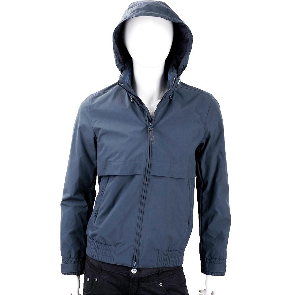 Woolrich 收納式深藍色連帽立領飛行員夾克