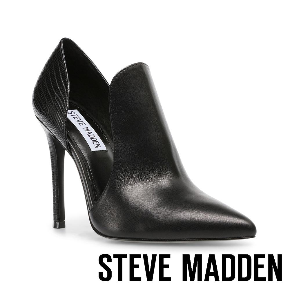 STEVE MADDEN-EMBRY 迷人性感拼接簍空高跟女鞋-黑色