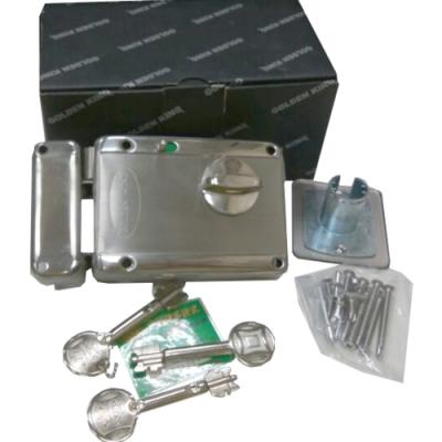 DY-8302SS-3F 金冠 白鐵五段鎖 防盜鎖 葉片式三支伸縮鑰匙 防盜門玄關門專用鎖