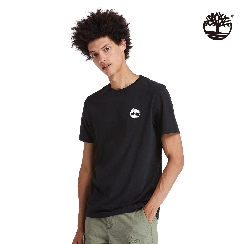 Timberland 男款黑色樹標LOGO有機棉短袖T恤|A29RX