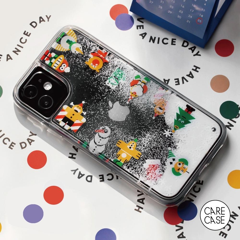 CARECASE 小怪獸系列 iPhone 12 Mini 手機保護殼 聖誕下雪款