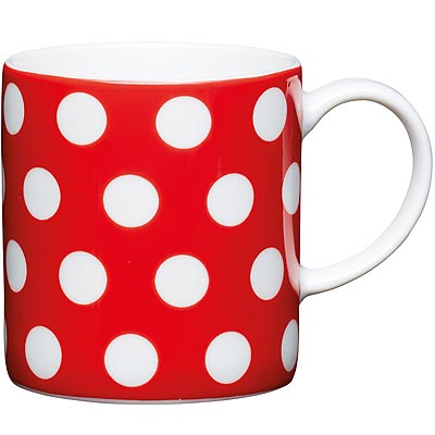 《KitchenCraft》濃縮咖啡杯(圓點紅80ml)