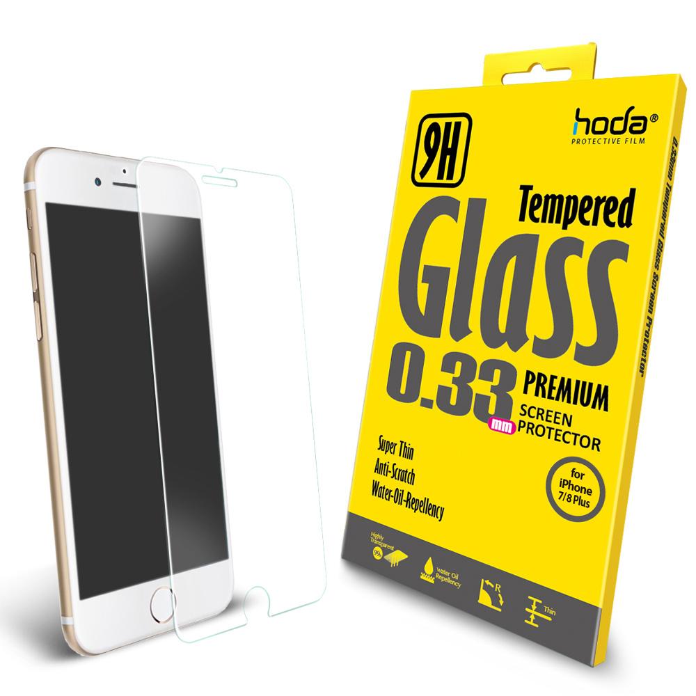 【hoda】iPhone 7/8 Plus 2.5D高透光9H鋼化玻璃保護貼-非滿版