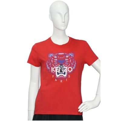 KENZO 老虎標誌印花短袖圓領衫(紅)