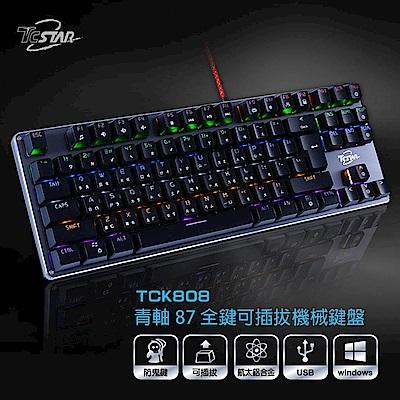 TCSTAR 有線電競機械鍵盤 TCK808