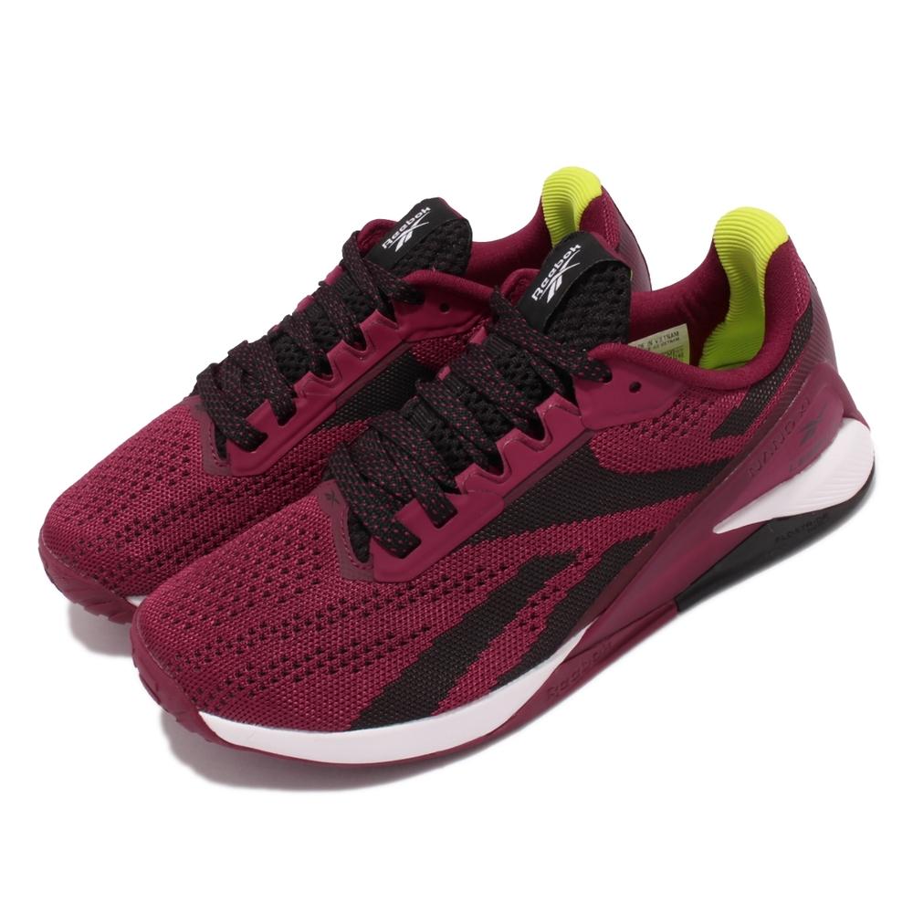 Reebok 訓練鞋 Nano X1 運動 女鞋 健身房 避震 包覆 穩定 重訓 球鞋 紅 黑 H02833