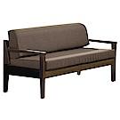 文創集 米納莎時尚亞麻布實木二人座沙發椅-135x74x80cm-免組