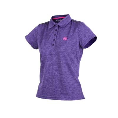 FIRESTAR 女短袖吸排POLO衫-翻領 慢跑 麻花深紫