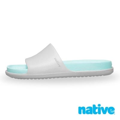 native SPENCER LX 男/女沙灘鞋-霧灰x山麓藍