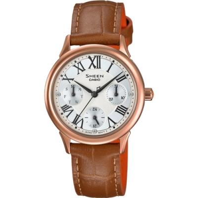 CASIO SHEEN 魅力語錄時尚腕錶-SHE-3049PGL-7AUDR-31mm