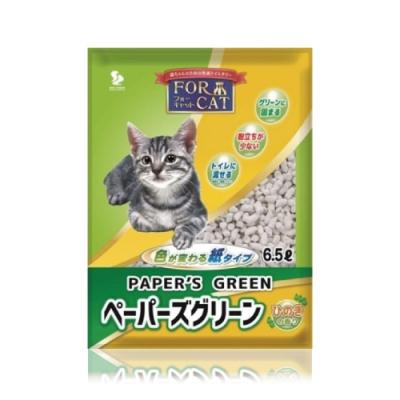 日本FORCAT-變色凝結紙貓砂-檜木香6.5L 四包組