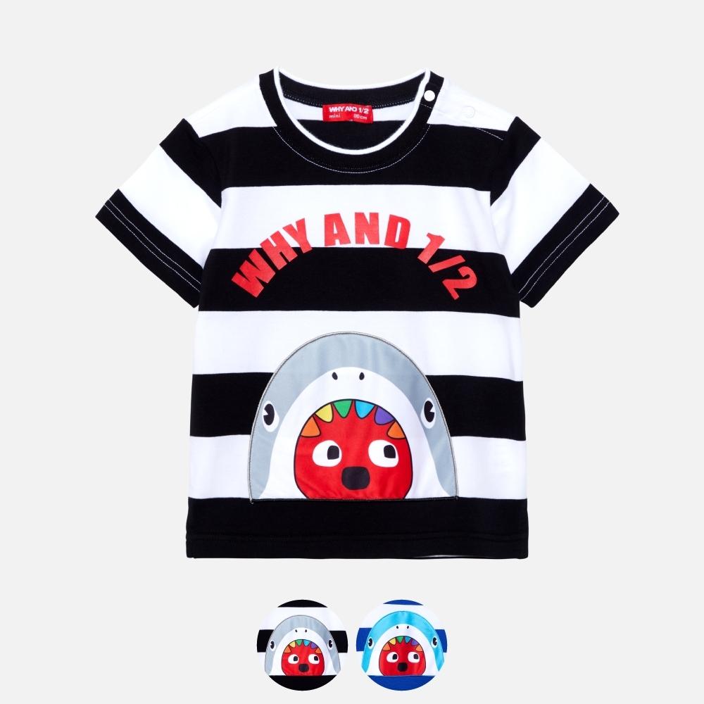 WHY AND 1/2 mini 條紋棉質萊卡T恤 多色可選 1Y ~ 4Y (黑色)