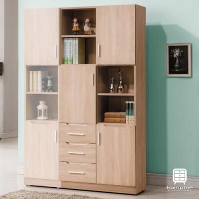 漢妮Hampton貝琳達橡木2.7尺三抽書櫃80.2x32x183.5