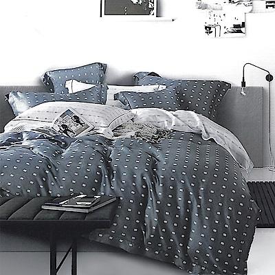 LAMINA 一粒落塵-藍 100%天絲四件式兩用被套床包組(加大)