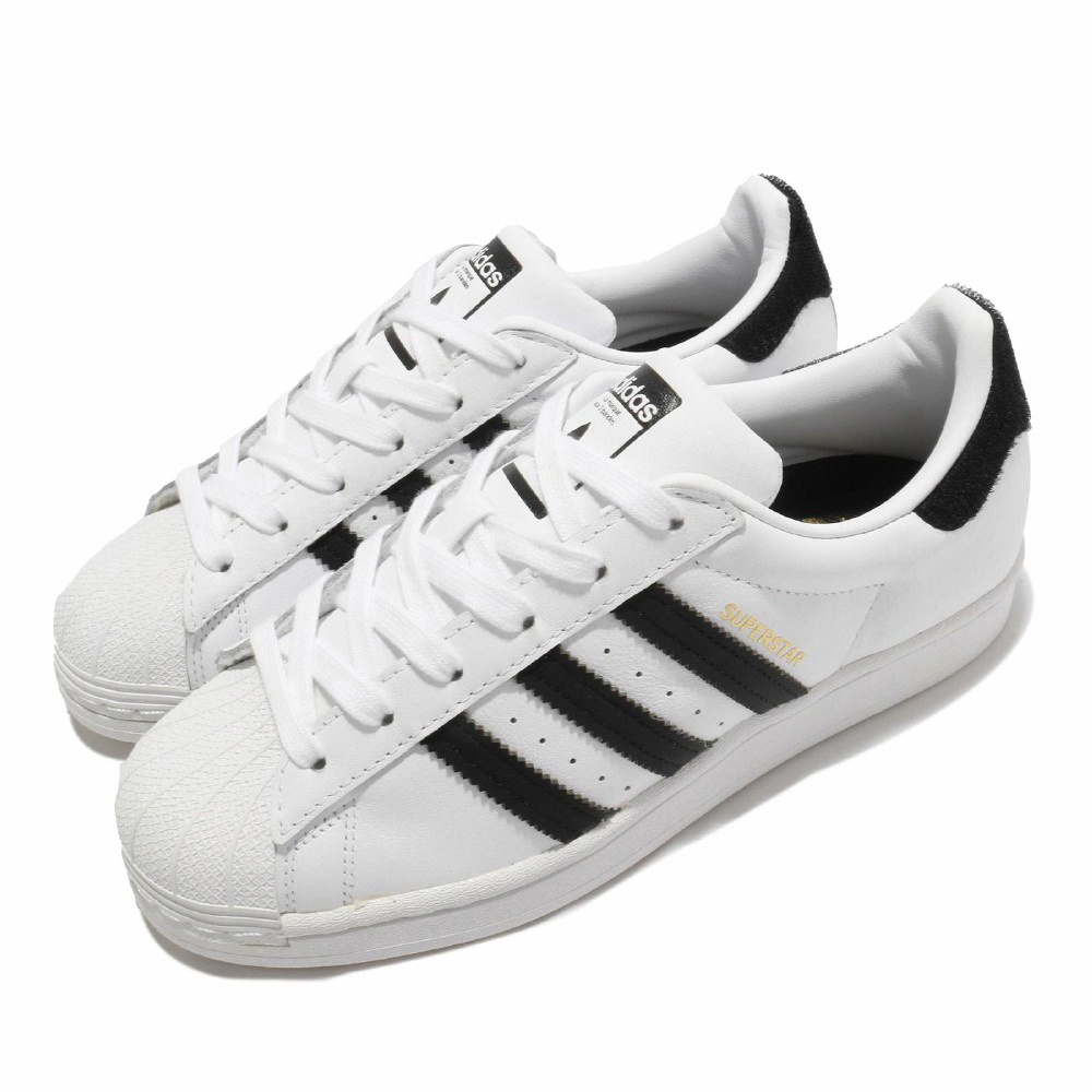 adidas 休閒鞋 Superstar 復古 低筒 男女鞋 愛迪達 三葉草 台北 魔鬼氈 情侶穿搭 白 黑 FX7789