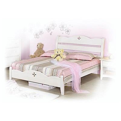 AS-亞伯5尺白色雙人床架-154x203x108cm