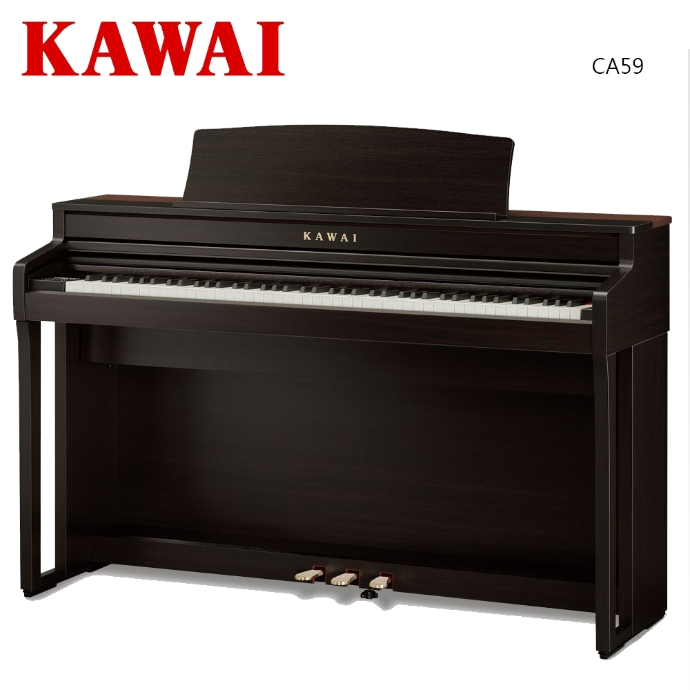 KAWAI CA59 R 88鍵木質琴鍵旗艦機種數位電鋼琴 玫瑰木紋