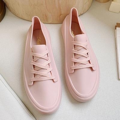 韓國KW美鞋館-舒適流線美身板鞋-粉紅色