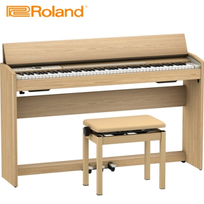 ROLAND F701 LA 88鍵數位電鋼琴 質感淺木紋色款
