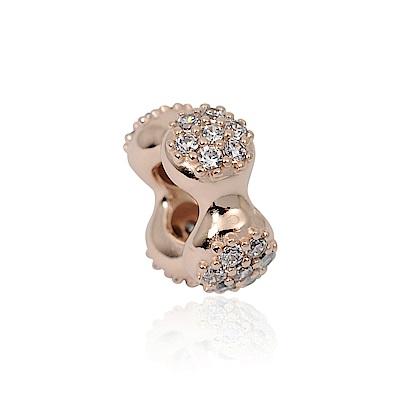 Pandora 潘朵拉 豆莢鑲鋯玫瑰金 純銀墜飾 串珠