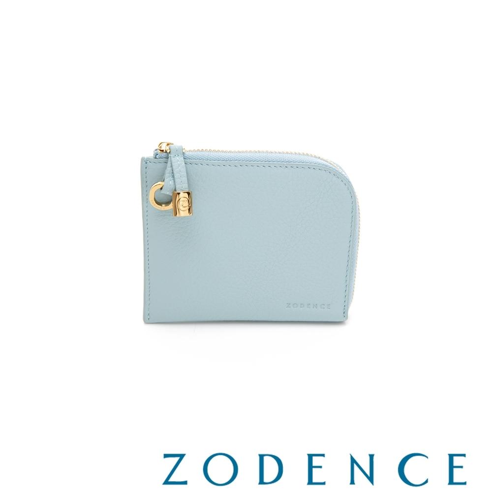 ZODENCE LIA系列進口牛皮簡式短夾 水藍