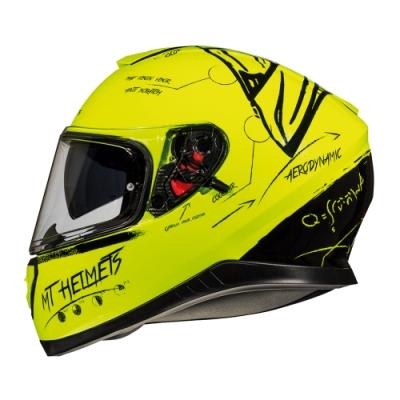 MTHELMETS MT安全帽 THUNDER3 SV BOARD系列 螢光黃黑