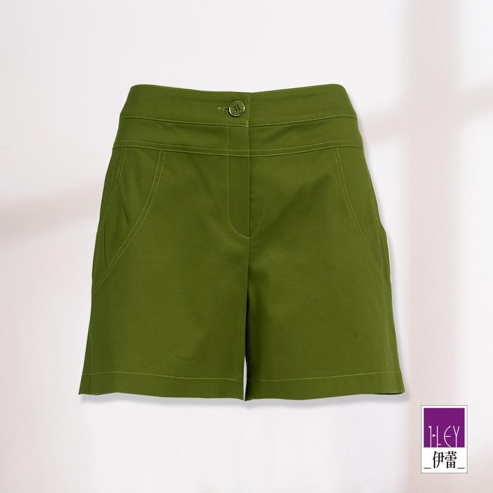 ILEY伊蕾 弧形大口袋百搭短褲(綠)