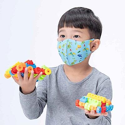 舒適美-3D立體透氣兒童口罩 (淘氣恐龍) 2入組