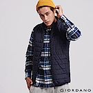 GIORDANO 男裝輕量立領鋪棉背心-66 標誌海軍藍