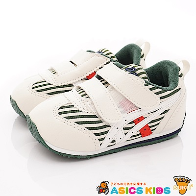 亞瑟士SUKU2機能鞋 經典護足款 BON67-300白綠(小童段)