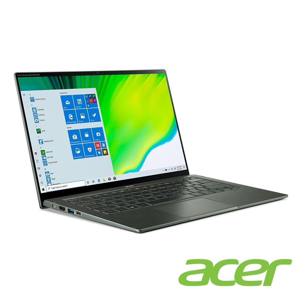 (福利品)Acer SF514-55TA-718E 14吋筆電(i7-1165G7/16G/512G SSD/Swift 5/綠)