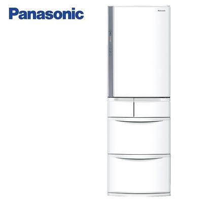Panasonic國際牌411公升五門變頻冰箱 NR-E414VT-W1晶鑽白