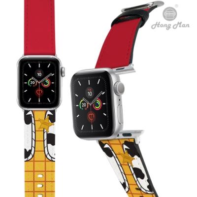 【Hong Man】迪士尼系列  Apple Watch 皮革錶帶 經典Woody 42/44mm