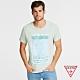 GUESS-男裝-素色簡約休閒字母短T,T恤-綠 原價1290 product thumbnail 1
