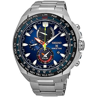 SEIKO精工 Prospex GMT兩地時間光動能男錶SSC549P1