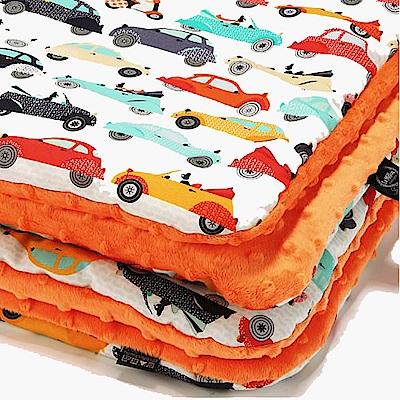 La Millou 暖膚豆豆毯(加大款)-法鬥噗噗車(葡萄柚橙橘)