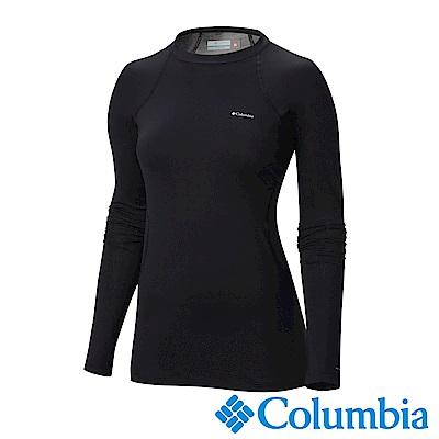 Columbia哥倫比亞 女款-Omni-HEAT保暖快排長袖上衣-黑色