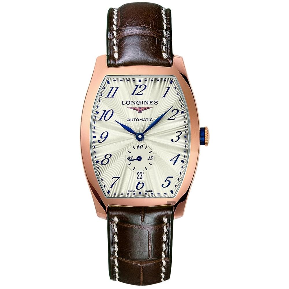 LONGINES 浪琴 Evidenza 典藏 18k玫塊金機械錶 L26428734