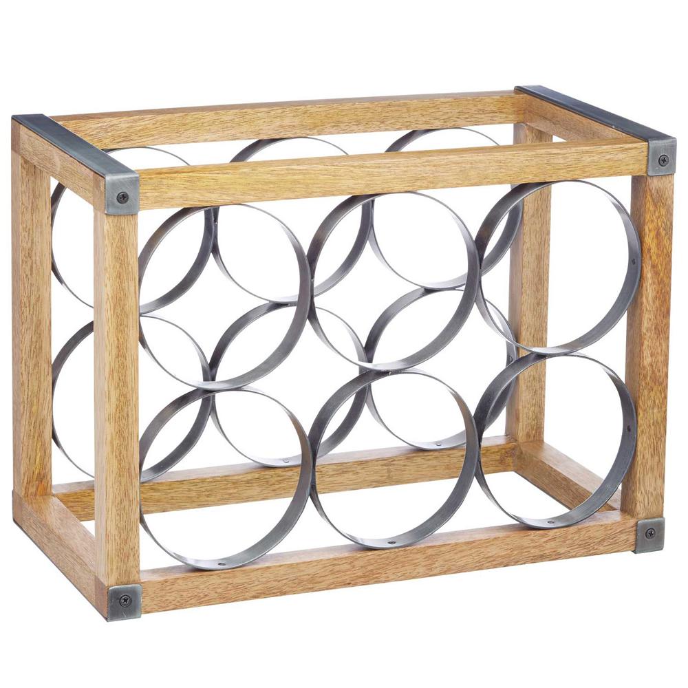 《KitchenCraft》工業風芒果木酒架(6格)