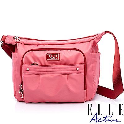 ELLE Active 優雅隨行系列-側背包/斜背包-大-粉紅色
