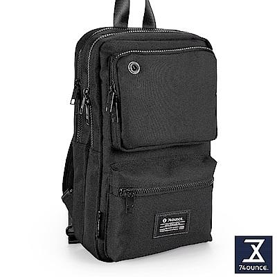 74盎司 Life 雙口袋設計尼龍胸包[G-1031-LI-M]黑