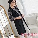 日系小媽咪孕婦裝-極簡俏麗西裝式長版背心外套 (共三色)