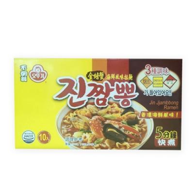 不倒翁 金螃蟹海鮮風味拉麵130克X10入