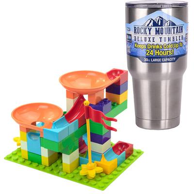 《Crazy Happy Ball二版》益智3D軌道積木組50PCS+冰霸杯組